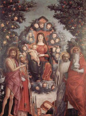 Andrea Mantegna(1431-1506), Sacro Conversazione Trivulzio 1497, Milano Castello Sforzesco