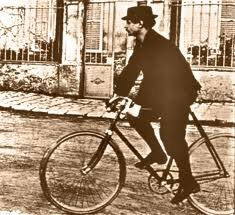 "Alfred Jarry in Alfortville auf Fahrrad ""Clément luxe 96"""