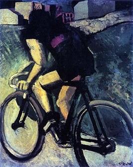 Mario Sironi, ciclista 1916, Venezia, Guggenheimcoll.