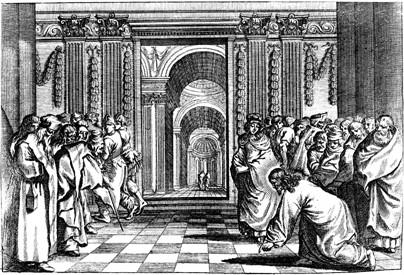 anonym Illustration der Lutherbibel ; Holzschnitt Nürnberg 1702