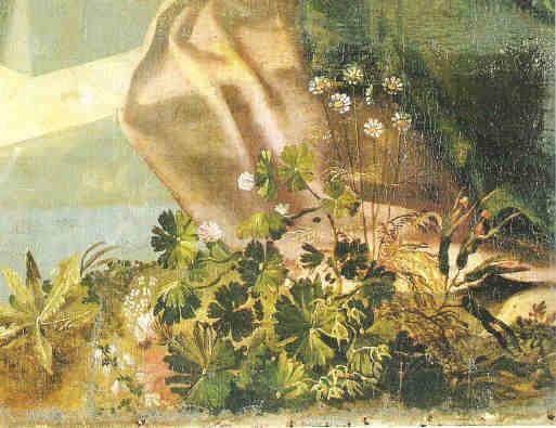 Bamberger Himmelfahrt, Detail: Blumenstilleben