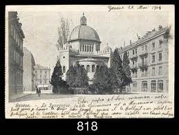 Postkarte der Synagoge 1914 (rückseitig)