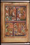 anonymer Miniator um 1200, königl.Bibl. den Haag (KB.76 F5) 9x6,5cm