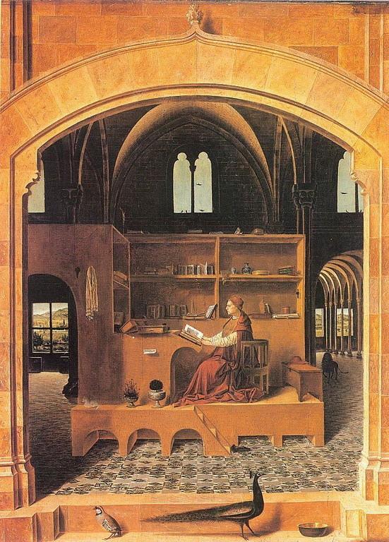 Antonello da Messina (1430-1479), San Girolamo nello studio 1474, London NG