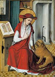 Meister der Hausbuchs (tätig 1475-1490), Hieronymus, Frankfurt Staedel