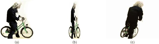 Einstein auf dem Fahrrad mit Lichtgeschwindigkeit gesehen
