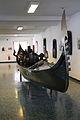 Gondola von Peggy Guggenheim (1898-1979) im Museo navale Venedig