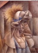 Metzinger, Las plume jaune 1912 71x52 1912 aus Besitz Quinn 1916