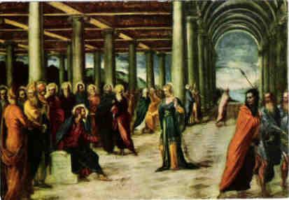 "Jacopo Tintoretto(1518-1594), ""Adultera Chigi"",Gall.Naz. di Pal. Barberini Rom, Lw.119x169cm"