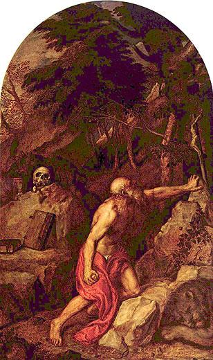 Tizian (1476/89-15576), San Girolamo penitente,1552, Milano, Brera