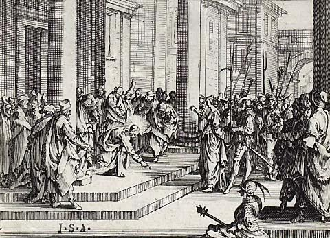 Jacques Callot(1592-1635),Kupferstich 6,3x8,5cm, von 1635,
