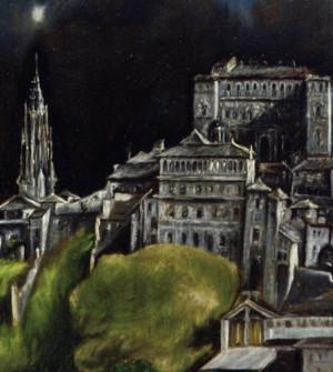 Detail: Kathedrale und Alcazar, davor Gebäude des Spitals S.Cruz (?)