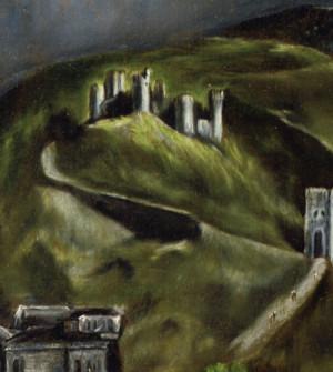 "Detail: ""Castillo de Cerbantes"", San Servando (ehem. Cervantes-Besitz)"