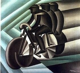 Fortunato Depero (1892-1960), ciclisti 1922