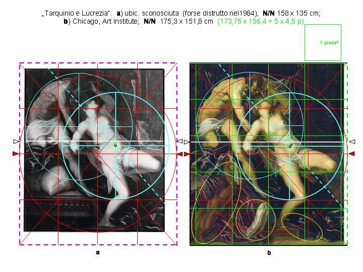 Tarquin und Lukrezia, 1) verschollen, 2) Chicago, Art Institute