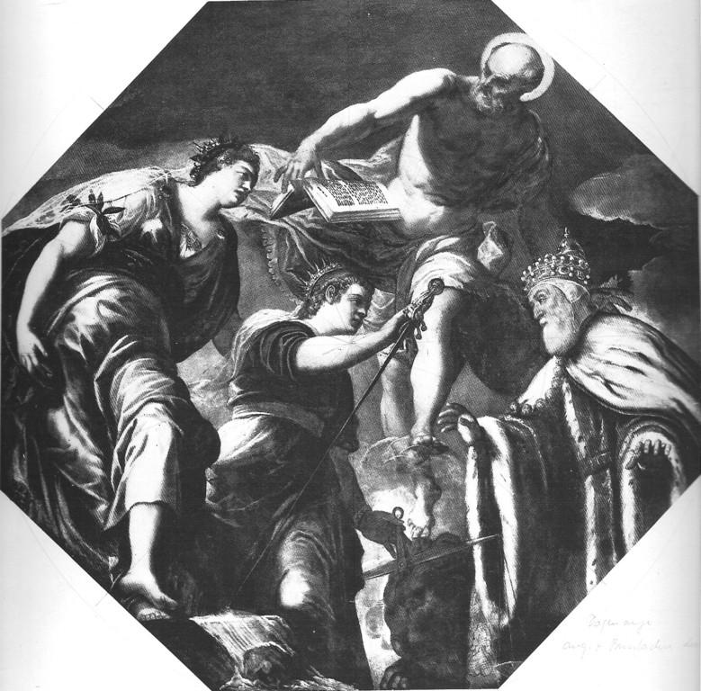Tintoretto, Hieronymus beschützt den Dogen Priuli (Atrio Quadrato) 1564/65, Venezia, Palazzo Ducale
