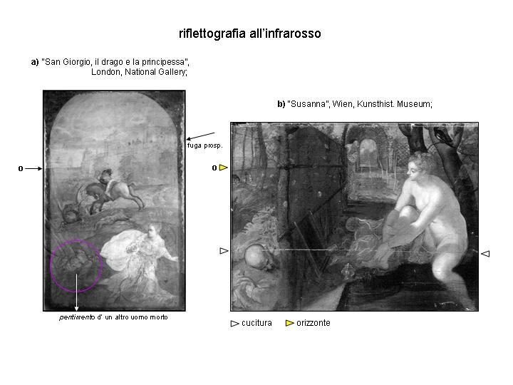 Hl.Georg London & Susanna, Wien IR-Reflektographien