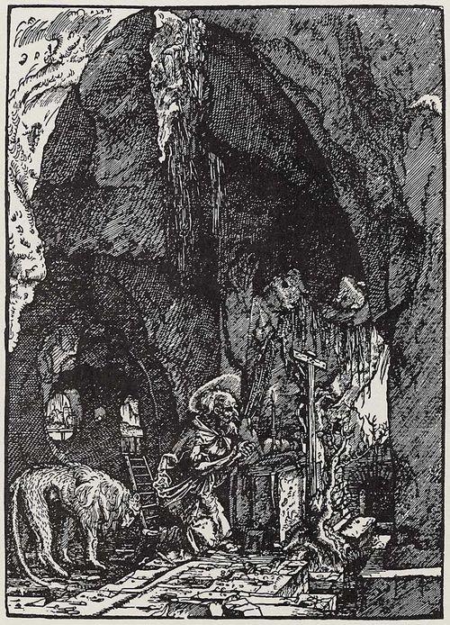 A.Altdorfer, Hieronymus in der Felsenhöhle
