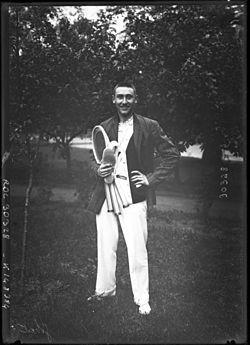 André Gobert (1980-1951) Tennischampion 1913