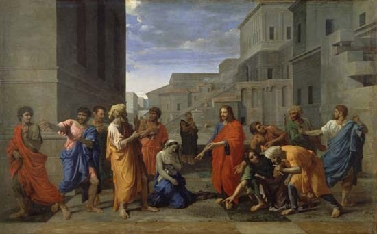 Nicolas Poussin(1593-1665) , Louvre Paris (Lw.122x195cm) 1653