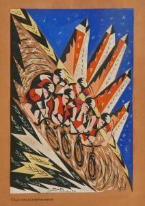 Marfa Futurista (1875-1956) Futurcorsa ciclistica 1917