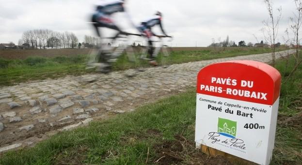 Strecke Paris-Roubaix bei Bart