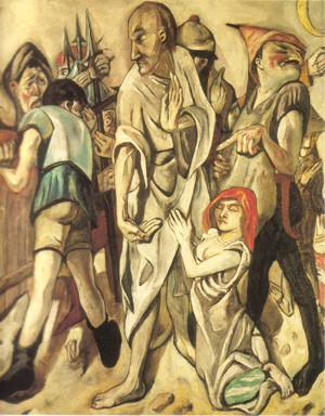Max Beckmann (1884-1950) 1917, St.Louis Art Mus.(Lw.149,2x126,7cm)1937 'entartet'