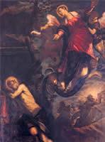 Tintoretto, San Girolamo und die Erscheinung der Madonna um 1580, Venedig, Ateneo Veneto