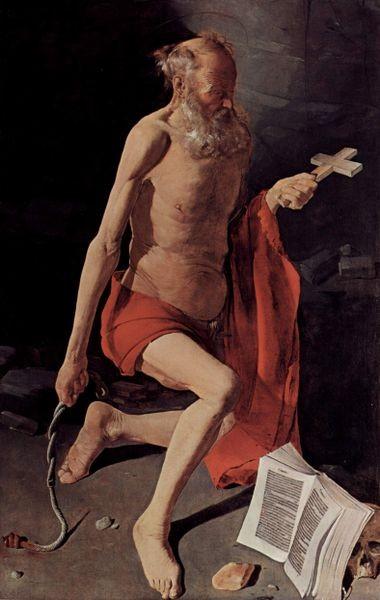 Georges de la Tour (1593-1652), Hieronymus (1628-30), Grenoble M.d.b.A.