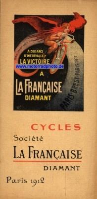 """Reklameplakat La Française / Diamant"""" 1912"""