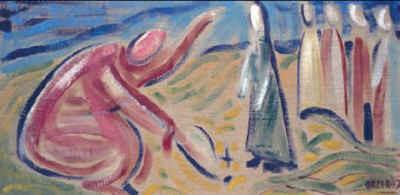 Gegenwartskünstler Davide Orler (*Mezzano 1931) Adultera 1997