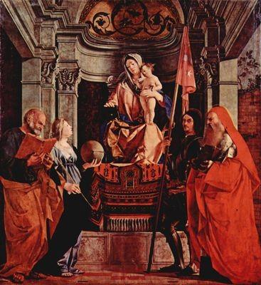 Lorenzo Lotto (1480-1556), Madonna e Santi, ca 1508, Treviso, Santa Cristina al Tivarone,