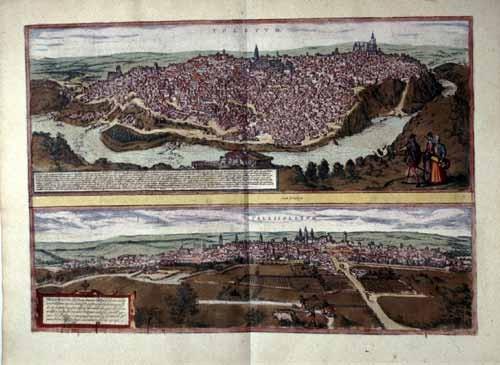 Stadtansichten Toledos und Valladolids Köln 1572-1612 (Civitates orbis terrarum)