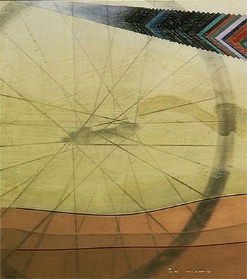 Marcel Duchamp, Tu m... 1913, Detail: Schatten des Rades von 1913