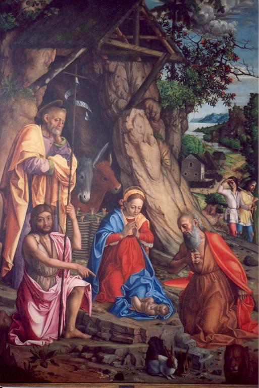 Girolamo dai Libri (1474-1555), Presepe dei Conigli, Verona Mus.d.Castelvecchio