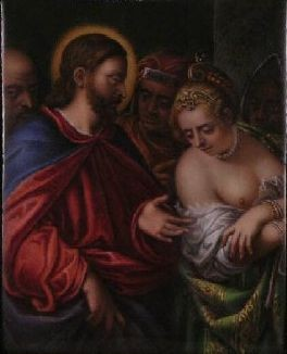 A.Chavassieu d'Haudebert(1788-1831)Porzellanmal.n. P.Zelotti(1526-1578), Villa Belgioioso Bonaparte, Milano