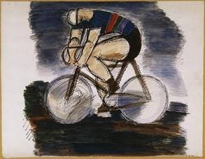 Marcel Gromaire (1892-1971), cycliste 1930, Aquarell 33,3x42,5cm M.d'art, ville de Paris