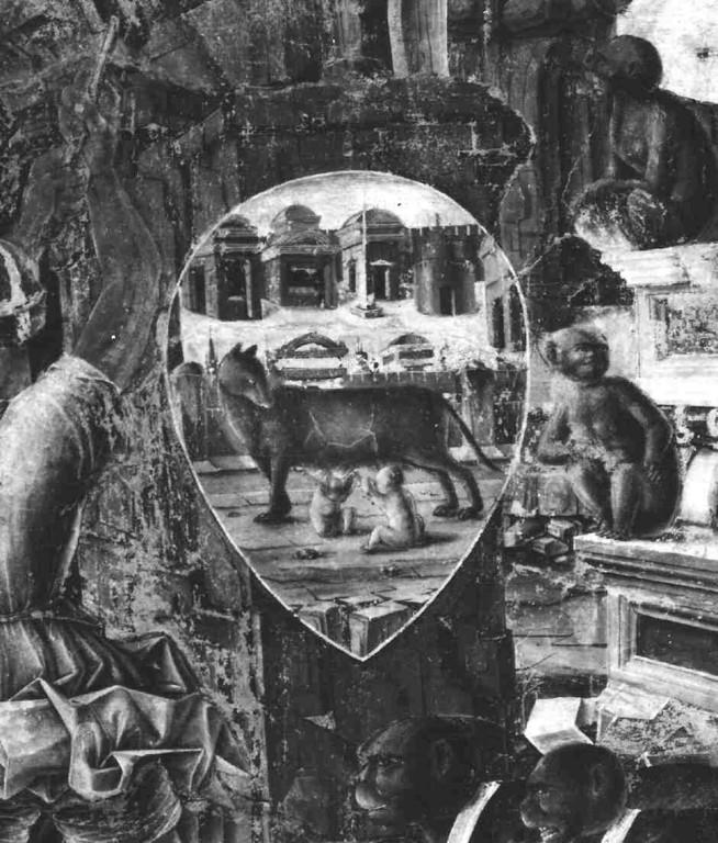 idem, Detail: der magische Schild am Eingang zur Esse