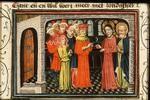 Miniatur des Alexandermeisters um 1430, den Haag kö. Bibl.(KB 78D 38I) 6,5x9cm