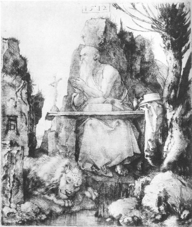 Albrecht Dürer, Hieronymus Kaltnadelradierung 1512