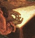 Jacopo Tintoretto München, Detail der Gebärdensprache mit Zählgestus
