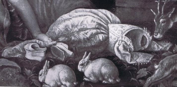 Francesco Bassano, Susanna, Smgl.Italo Brass, Detail des Mieders