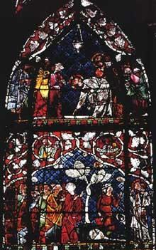 Strassburg Münster, südl.Seitenschiff 2. Fester nach Katharinenkap. um 1340