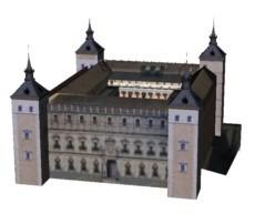 Modell des Alcazar (Architekt J.Manuel) Nord- und Eingangsfassade 1551
