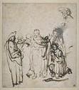 Rembrandt, lavierte Federzeichnung Paris Louvre
