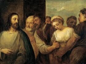 David Teniers d.J. (1610-1690) Kopie nach Tizian Holztafel 16,9x22,5cm Wallace Coll.London
