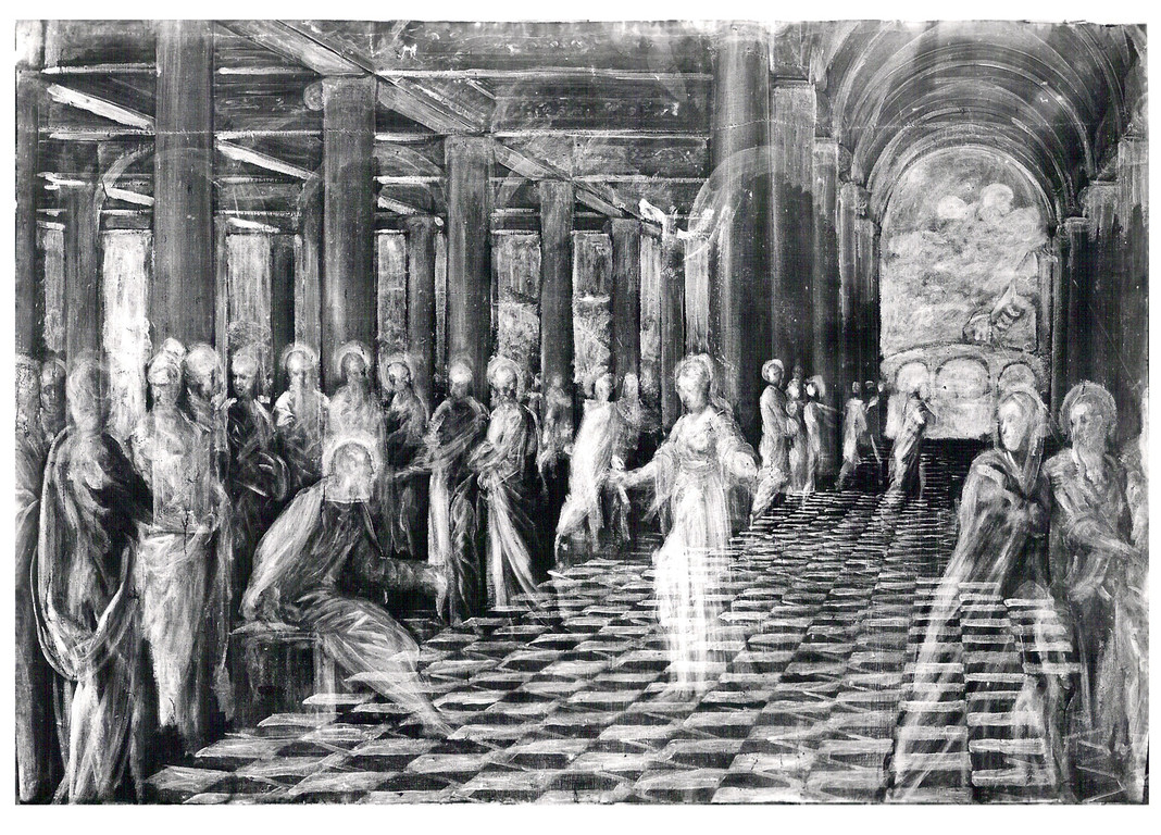 Adultera Chigi, Roma Gall.d.A.antica, Radiographie