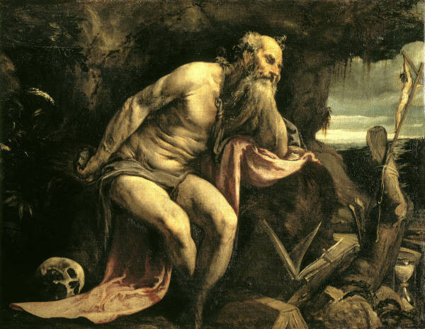 Jacopo Bassano (1510-1592), Hieronymus ca 1562/68, Venedig, Gall.d.Accademia
