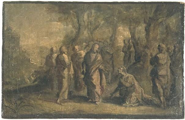 anonym ital. XVII Jh.E.(?) in freier Landschft, Zeichnung Louvre
