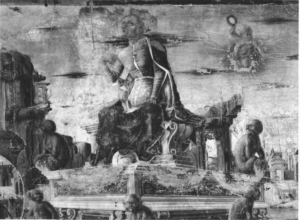 idem, Detail: Vulkan auf dem Affenwagen